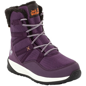 Jack Wolfskin Polar Bear Texapore High Bottes Enfant, purple/off-white